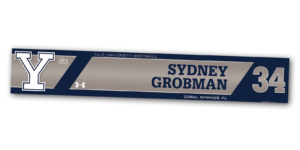 softball silver metallic metal locker nameplate workout customizable team color logos personlization individualize name number