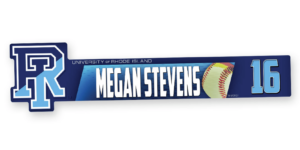 softball profile shape locker nameplate workout room office customizable team color logos personlization individualize name number