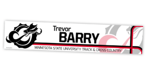 traditional standard locker nameplate workout room office customizable team color logos personlization individualize name number track and field cross country