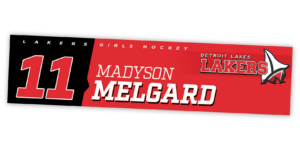traditional standard locker nameplate workout room office customizable team color logos personlization individualize name number ice hockey womens