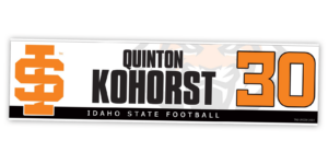 traditional standard locker nameplate workout room office customizable team color logos personlization individualize name number football
