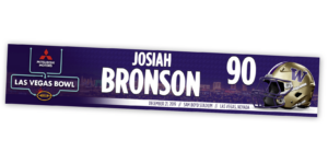 traditional standard locker nameplate workout room office customizable team color logos personlization individualize name number football helmet special event