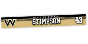traditional standard locker nameplate workout room office customizable team color logos personlization individualize name number ice hockey baseball