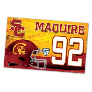 duffy bag window instert customizable team color logos personlization football helment field