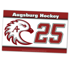 duffy bag window instert customizable team color logos personlization ice hockey number logo