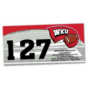 duffy bag window instert customizable team color logos personlization football field number