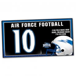 duffy bag window instert customizable team color logos personlization football branding helment logo