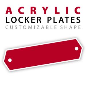 custom acrylic locker plates nameplates