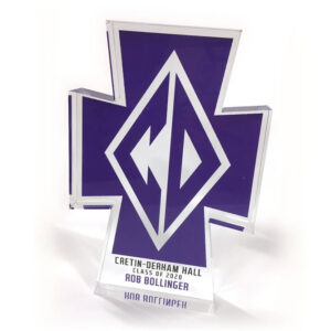 Customize personize individualize shape cut thick acrylic award memento gift