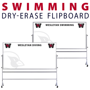 swimming diving team athletics customizable dry-erase board whiteboard portable flipboard