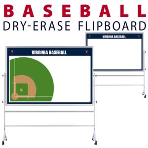 baseball customizable dry-erase board whiteboard portable flipboard