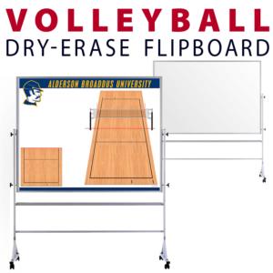 volleyball customizable dry-erase board whiteboard portable flipboard