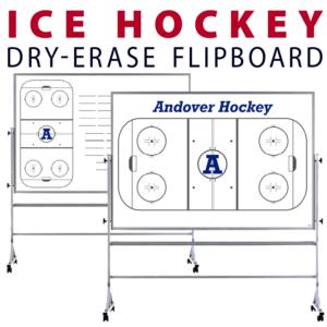 ice hockey customizable dry-erase board whiteboard portable flipboard