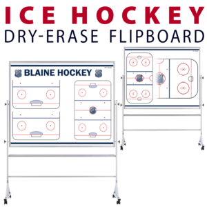 ice hockey rink tactical formation dry-erase board whiteboard portable flipboard