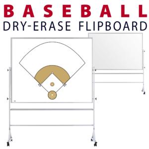 baseball field tactical formation dry-erase board whiteboard portable flipboard