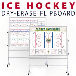 hockey ice rink tactical formation customizable dry-erase board whiteboard portable flipboard