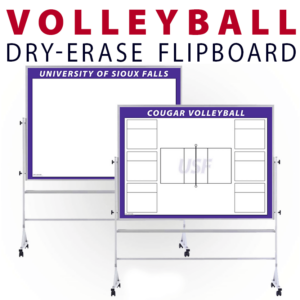 vollyball court team tactical formation dots circles customizable dry-erase board whiteboard portable flipboard