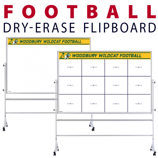 football team tactical formation dots circles customizable dry-erase board whiteboard portable flipboard