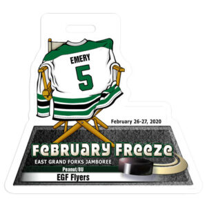 ice hockey player jersey ouck custom bag luggage tag