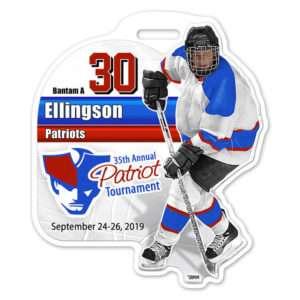 Customizable Hockey Bag Tag