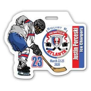 customize Ice Hockey Player skating profile bag tag