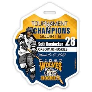 Ice Hockey Player stick branding color profile bag tag