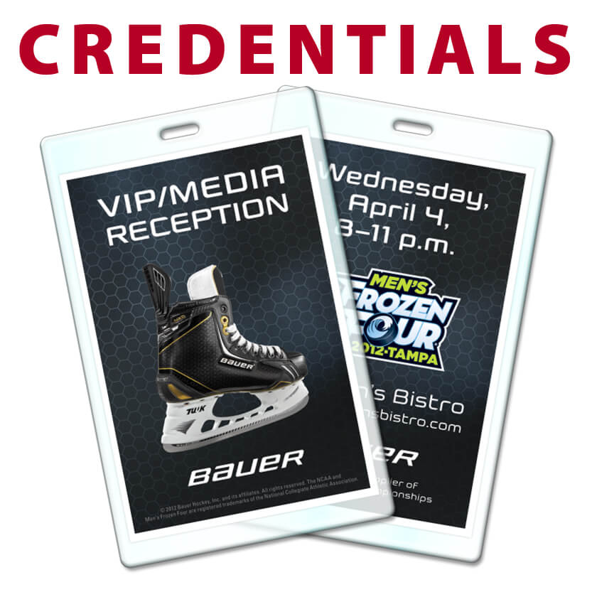 Laminate personalized credential tags badges