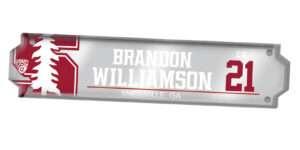 customizable individualize acrylic locker nameplate branding logo sport athletics