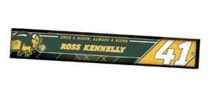 customizable individualize acrylic locker nameplate branding logo sport football