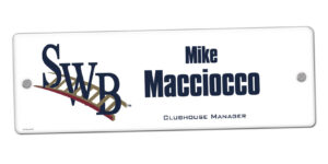 customizable individualize acrylic locker nameplate branding logo coach