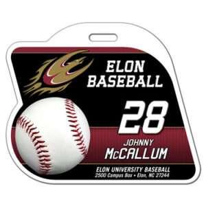 Ready to order baseball profile bag tag customizable featuring baseball team colors logo