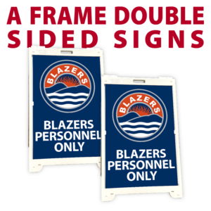 A Frame Double Sided Custom Sidewalk store front sign holder