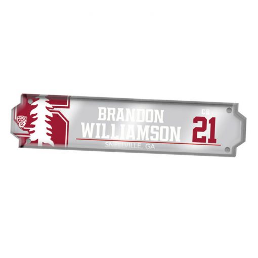 custom cut acrylic locker nameplate