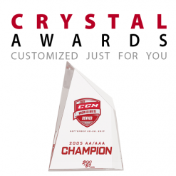 Custom glass crystal award