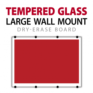 customizable tempered glass large wall mount dry erase board