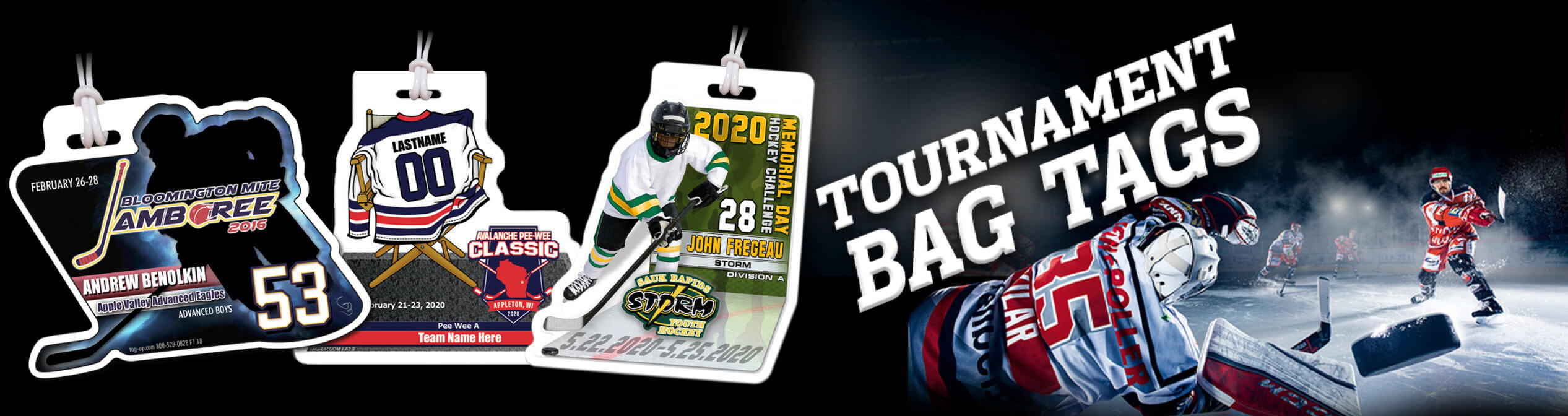 tournament bag tags