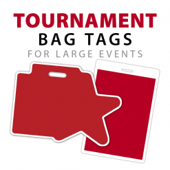 custom tournament bag tags