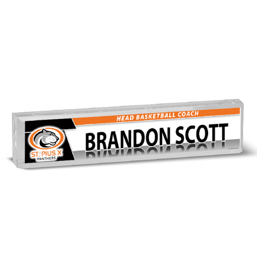 custom acrylic block desk nameplate