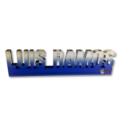custom cut name shape acrylic desk nameplate