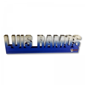 custom cut name shape acrylic desk nameplate