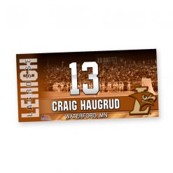 custom standard traditional locker plate lacrosse