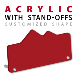 custom cut acrylic plaque awardswith standing pins