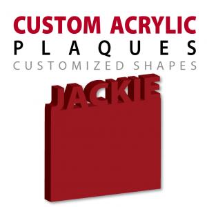 custom cut acrylic plaques