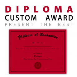 Awards diplomas customization