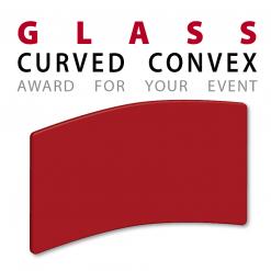 custom convex curved glass awards