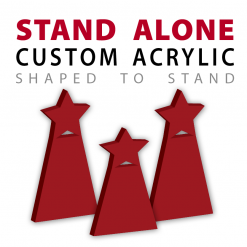 Stand Alone Custom Cut Acrylic Awards