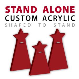 Stand Alone Custom Cut Acrylic Awards