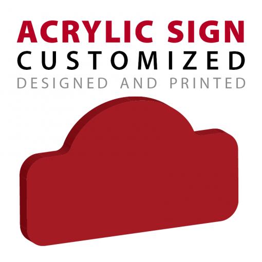 custom shape acrylic sign