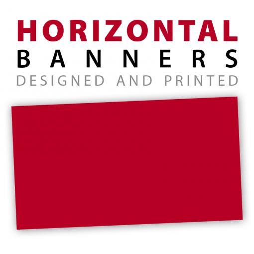 custom horizontal banners