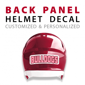 custom back panel helmet decals sticks